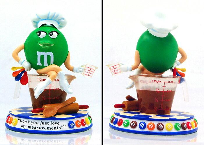 "M&M's ダンバリーミント社 ""SWEET TREATS"" SIMPLY IRRESISTIBLE (グリーン)レジン製 スタチュー"