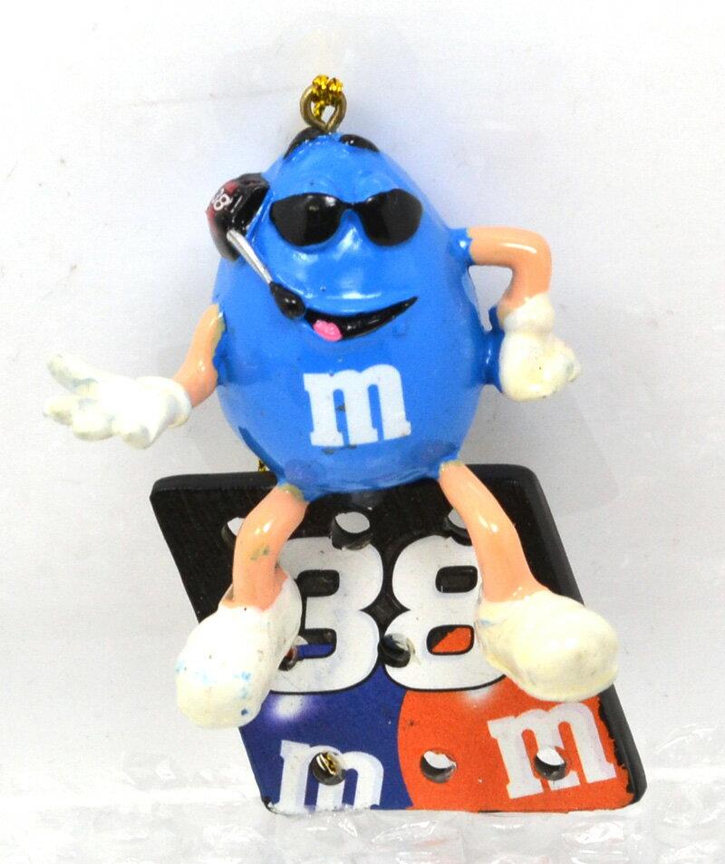 """m&m's racing 2007 NASCAR """"David Gilliland"""" #38 ornament (blue) ナスカー 「デイビッド・ギリランド」 クリスマスオーナメント(ブルー)"""