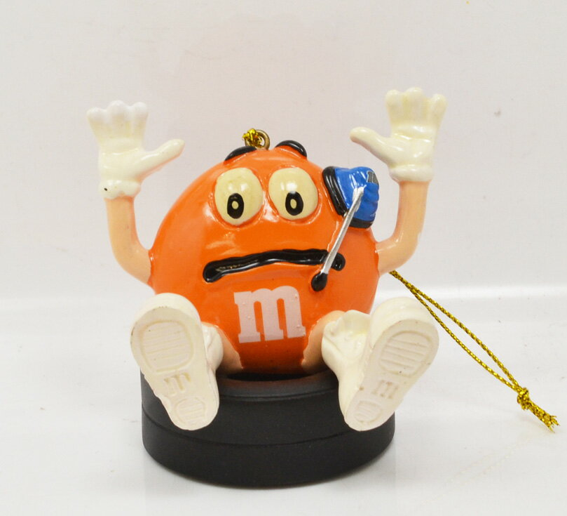 "m&m's racing 2008 NASCAR ""Kyle Busch"" #18 ornament (orange) ナスカー 「カイル・ブッシュ」 クリスマスオーナメント(オレンジ)"