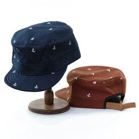 ┣┫帽子/イカリマークプリント綿素材シンプルコットンワークキャップ/シンプル&スタンダードで柄物使いもさらっと着こなすこなれ感/メンズレディース16aw▲