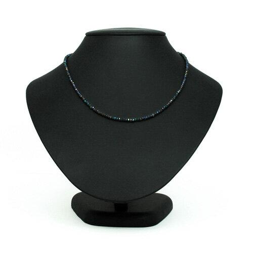 天然石 ミスティック コーテッド ブラック スピネル デザイン ネックレス シルバー 925 カラー クール ジュエリー アクセサリー メンズ レディース パワーストーン ギフト プレゼント ファッション かっこいい お守り アジャスター付き