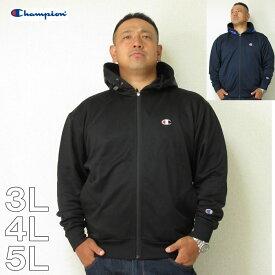 (本州四国九州送料無料)大きいサイズ メンズ Champion(チャンピオン)フルZIP フード Cマーク 3L 4L 5L フード パーカー