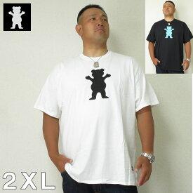 (1/31まで特別送料)大きいサイズ メンズ GRIZZLY(グリズリー) OG BEAR ビッグベア 半袖 Tシャツ 2XL