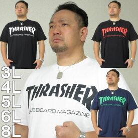 (本州四国九州送料無料)大きいサイズ メンズ THRASHER-半袖Tシャツ(メーカー取寄)3L 4L 5L 6L スラッシャー 流行り 流行 雑誌掲載