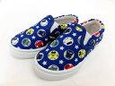 【送料無料】新幹線 (しんかんせん) スリッポンスニーカー 総柄ブルー シューズ 男の子 運動靴 こども靴 キッズシュー…