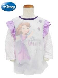【メール便OK】Disney ディズニープリンセス ソフィア 長袖 肩フリルプルオーバー Tシャツ ロンT 子供服 女児 ベビー キッズ こども 旅行 公園 保育園 ギフト お誕生日 お祝い プレゼント (Y5102 t