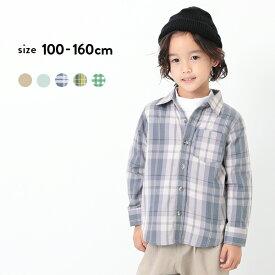 長袖シャツ 子供服 キッズ 男の子 女の子 シャツ トップス