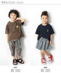 devirockロゴ刺繍BIGシルエットTシャツ男の子女の子トップス全10色全3柄100-160