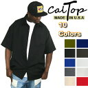 【あす楽】【Made in USA】【全10色】CalTop OG無地 S/Sシャツ[カルトップ]キャルトップ 無地シャツ カルトップ 半袖シャツ 大きいサイズ メンズ シャツ LL 2L 3L 4L 5L