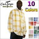 【あす楽】【2枚で送料無料】CalTop チェック柄 L/Sシャツ [カルトップ] チェックシャツ 【全11色】 キャルトップ …