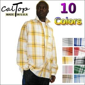 【あす楽】【2枚で送料無料】CalTop チェック柄 L/Sシャツ [カルトップ] 【全10色】チェックシャツ キャルトップ シャツ カルトップ 長袖 チェックシャツ メキシカン チカーノ ギャング ローライダー メンズ 大きいサイズ シャツ LL 2L 3L 4L 5L