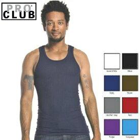 【112】PRO CLUB (プロクラブ) リブ編みタンクトップ 【全8色】【S〜XL】お得なパック セット売り パック PROCLUB Men's Athletics Shirt