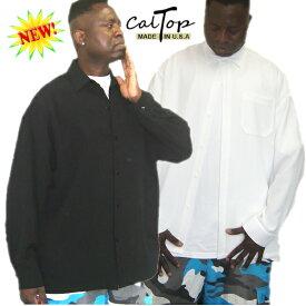 【あす楽】【2枚で送料無料】【Made in USA】【全2色】新作CalTop OG無地 L/Sシャツ[カルトップ]キャルトップ 無地シャツ カルトップ 長袖シャツ 大きいサイズ メンズ シャツ LL 2L 3L 4L 5L 7L
