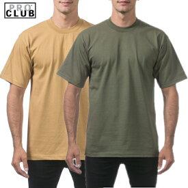 【101】PRO CLUB 【2色】マスタード、オリーブグリーンカラー (プロクラブ)ヒップホップ衣装 ダンス 衣装【M〜XL】[2XL〜5XLまでございます]HEAVY WEIGHT(ヘビーウェイト) PROCLUB Pro club 無地 半袖Tシャツ小さいサイズ大きいサイズ 作業着 M L LL 2L