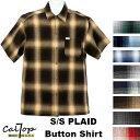 [あす楽]CalTop Plaid チェック柄 S/Sシャツ オールドスクール [カルトップ] チェックシャツ 【全8色】 キャルトッ…