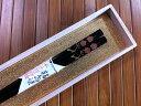 【高級箸】輪島塗箸 白梅紅梅(黒1膳)−本手描蒔絵【桐箱入り】