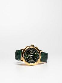 【CORNICHE】コーニッシュ Heritage Chronograph イエローゴールドケース グリーンダイアル グリーンレザー 時計