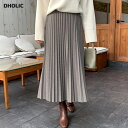 ヘリンボーンプリーツスカート・全2色 b54707 レディース【sk】【スカート プリーツ プリーツスカート ロングスカート…