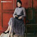 【送料無料】レースポイントシアーフローラルワンピース・p57508 【ops】【韓国 ファッション ワンピース ロングワン…