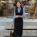 【アフターセール】スリムライン深Vネックワンピース・p111522 レディース 【ops】【韓国 ファッション ワンピース ロ…