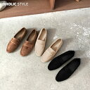 フェイクスエードローファー・p102851 レディース 【sho】【韓国 ファッション シューズ 靴 ローファー ファーライニ…
