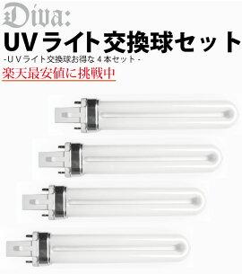 ジェルネイル【最安値に挑戦】UVライト36W交換ライトランプ4本セットネイルツール(ジェルネイル用)
