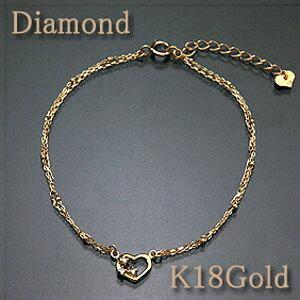 ブレスレット ダイヤモンド0.03ct K18Gold(ゴールド) 【オープンハート】3石のダイヤがアクセントgold/k18/18金【送料無料】【RCP】 10P03Dec16