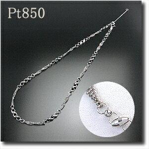 プラチナデザインネックレスPt850/45cm/スライド式アジャスター安心のプラチナ850製!ほどよいボリュームと存在感が魅力の主役級ネックレスです!ネックレス/ptネックレス/ptチェーン/スライド【送料無料】