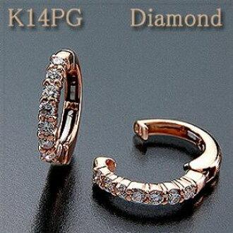 귀걸이 피어 링 다이아몬드 0.30 ct K14PG(핑크 골드) 마침내 다이어&핑크 골드가 등장! 리버시블 타입 k14/14금 P20Feb16 10 P03Dec16