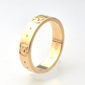 GUCCI グッチ アイコンリング Icon thin band 指輪 K18PG ピンクゴールド 8号 【中古】【送料無料】