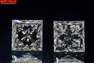 "It is a diamond GIA appraisal diamond differentiation book to brightness ""pierced earrings and the earrings of Princess cut diamond 0.3 carats E color VVS1"" star star stars"