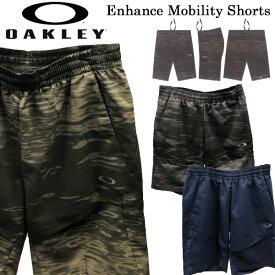 【ポイントアップデー】/オークリー ハーフパンツ OAKLEY Enhance Mobility Shorts ショーツ 半ズボン スポーツウェア トレーニング 【50SP】 メール便配送