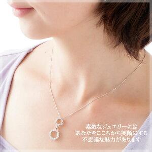 THJ「結〜YUI」サークルネックレスD0.8ctmodel