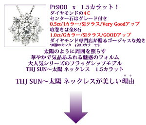 プラチナ900THJSUN〜太陽D1.5cte