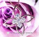 0.25ct K18 THJ Lilyネックレス D0.25ct ネックレス レディース 花 フラワー ゴールド 高品質SIクラス以上 18金 18k ダイヤモンド ホワ…