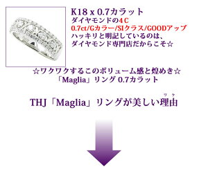 K18THJ「Maglia」リングD0.7cte