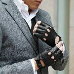 【AntonioMurolo】<スリット&ステッチ>イタリア製レザーグローブ羊革手袋
