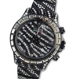 VABENE ヴァベーネ イタリア腕時計VA BENE腕時計ゼブラフェイス&スワロフスキー <クロノグラフ>