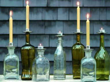 キャンドルホルダーBottelabra Tea/ボトラブラ ティータイプ Northern Lights Candles/ノーザンライツキャンドルズ思い出のワインボトルがホルダーに ※5,400円(税込)以上のお買い上げで送料無料(北海道/沖縄は送料別途)