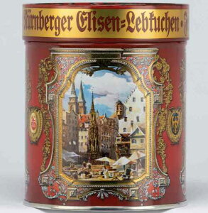 エリーゼンドーゼ330g 装飾缶入りレープクーヘン  ハンドメイドクリスマスクッキー ドイツの高級エリーゼンレープクーヘン シュミット