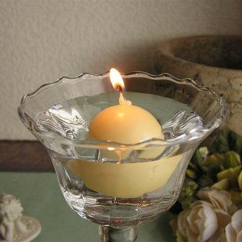 Floating Ball Candle/フローティングボールキャンドル(ペールエッグ)12個セット結婚式やイベントに♪大量注文OK!※5,400円(税込)以上で送料無料(北海道/沖縄は送料別途)