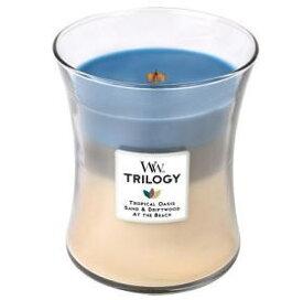 ウッドウィックキャンドル Wood Wick トリロジージャーM ノーティカルエスケープ 3層の香りが楽しめる グラスキャンドル アロマ フレグランス パチパチと音がするアロマキャンドル ※5,400円(税込)以上で送料無料(北海道/沖縄は送料別途)