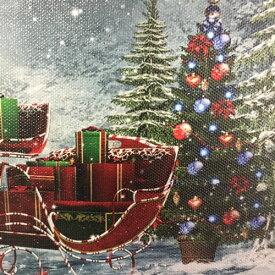 キャンバスクリスマス 壁掛け型クリスマス飾り LEDキャンバス A-クリスマスツリー B-スレー C-サイレントナイト クリスマスマーケット※5,400円(税込)以上で送料無料(北海道/沖縄は送料別途)