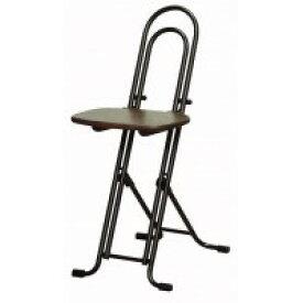 ルネセイコウ 高さ調節が自由な折りたたみチェア ベストホビーチェア ダークブラウン/ブラック  日本製 完成品 W-150TD