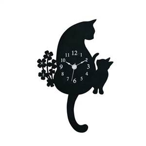 猫振り子時計 G-1143 N(ホワイト)※2018年10月中旬入荷分予約受付中