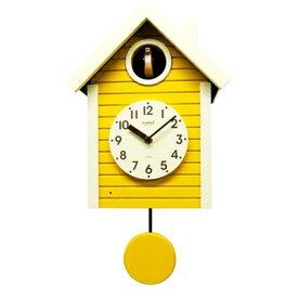 さんてる 日本製 手作り 鳩時計 北欧カラー イエロー SQ03-YE