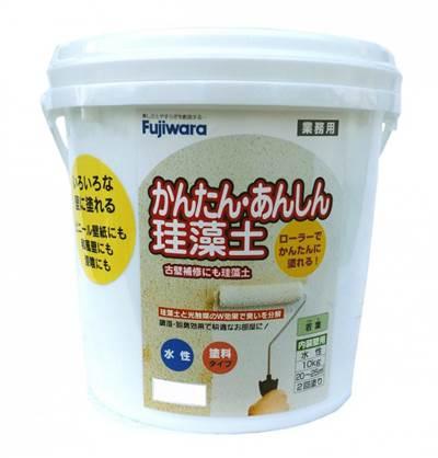 フジワラ化学 かんたん・あんしん珪藻土(内装調湿形仕上塗材)10kg