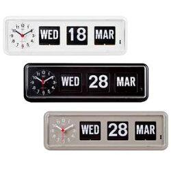 TWEMCO(トゥエンコ)置き・掛け兼用パタパタカレンダー時計BQ-38