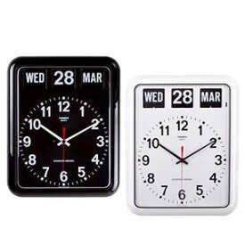 TWEMCO(トゥエンコ) 掛け時計 パタパタカレンダー時計 BQ-12A※ホワイトは11月上旬入荷予定
