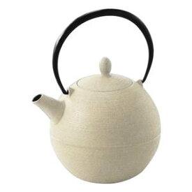 【予約受注生産品】南部鉄器 日の丸 鉄急須 600cc 白 茶漉し付き 10287※ご注文後1ヶ月〜2ヶ月で発送予定です。
